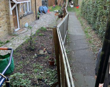 garden fence before repair